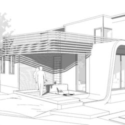 Courtyard House in Bangalore Sketch 2