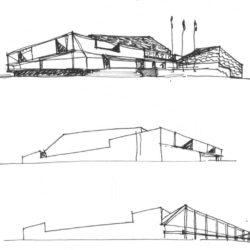 Beigang Cultural Center_Process sketch 1