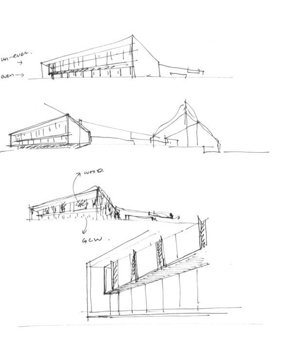 Beigang Cultural Center_Process sketch 4