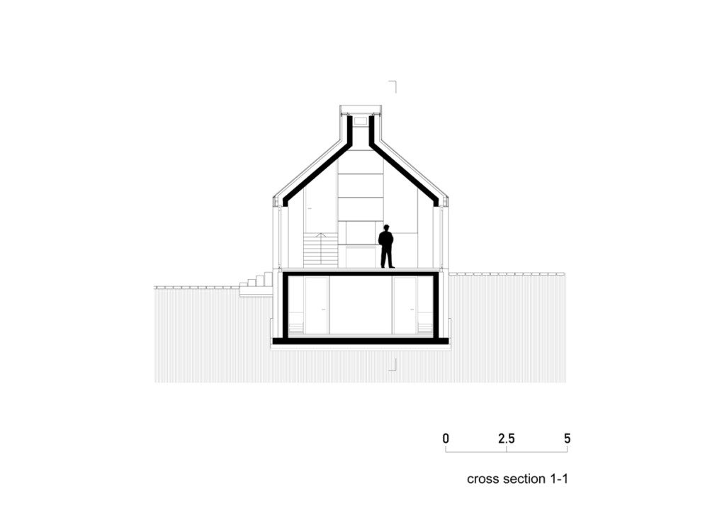 Chimney House_cross section