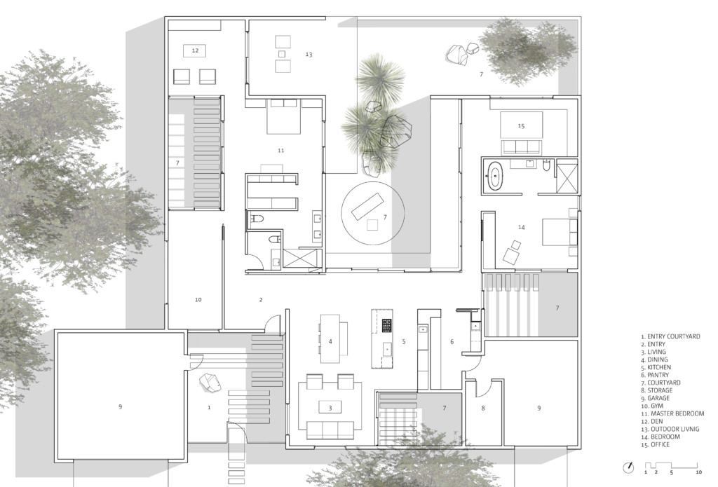 Courtyards House _Plan