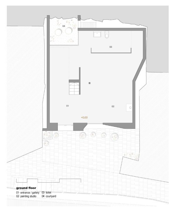 House for a painter_plan_1