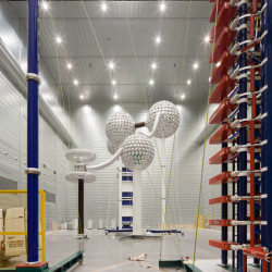 New High Voltage Laboratory Innenansicht