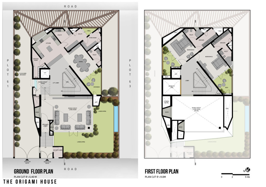 The Origami House Plan EG u. 1. OG