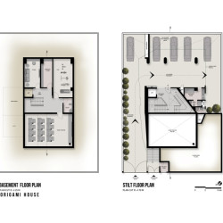 The Origami House Plan Garage und Keller