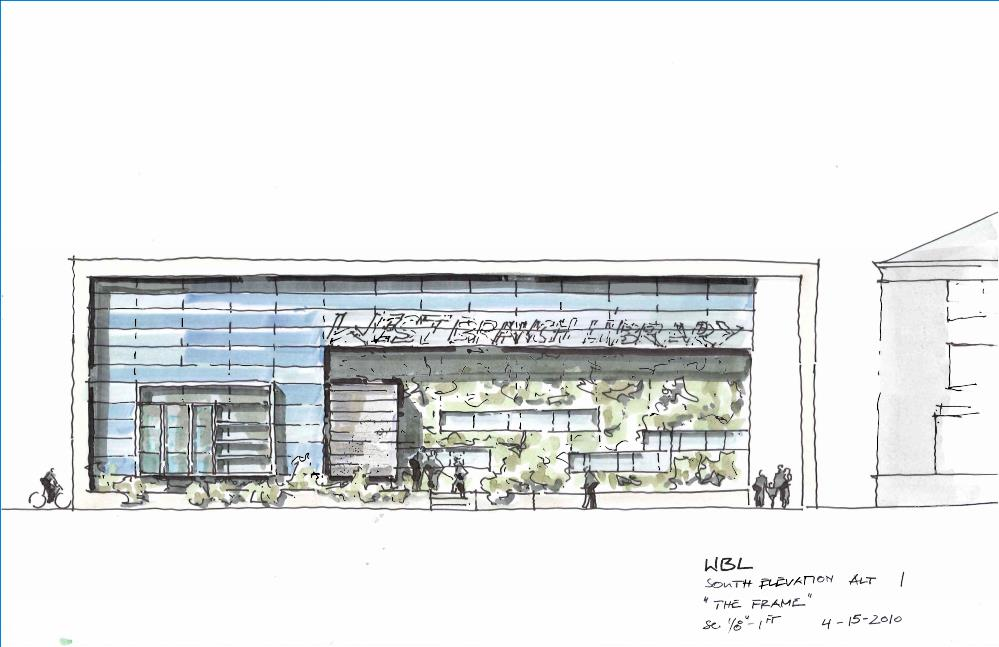 West Berkeley Public Library Sketch Front
