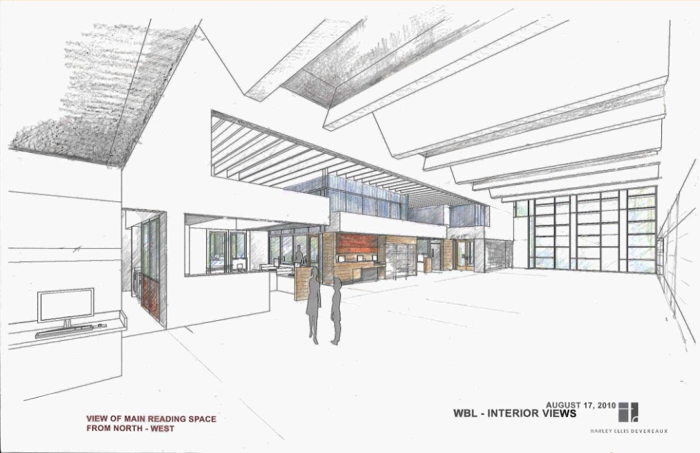 West Berkeley Public Library Sketch