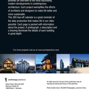 Architekturkalender 2019 | ARCHIPENDIUM Back Cover