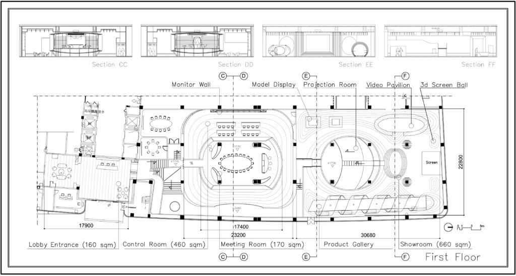 floor plan - sections
