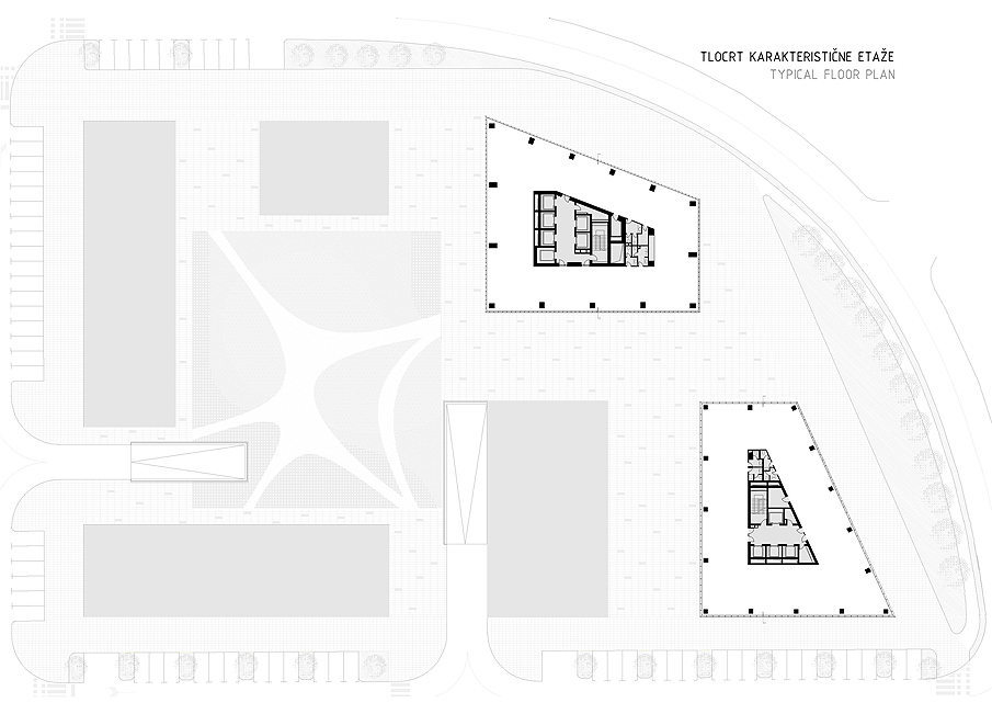 Strojarska Skyscrapers - Site plan