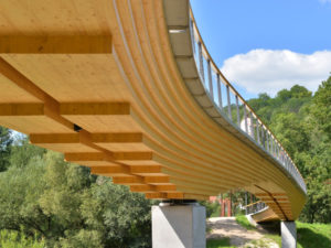 Curved Girder Bridge Neckartenzlingen